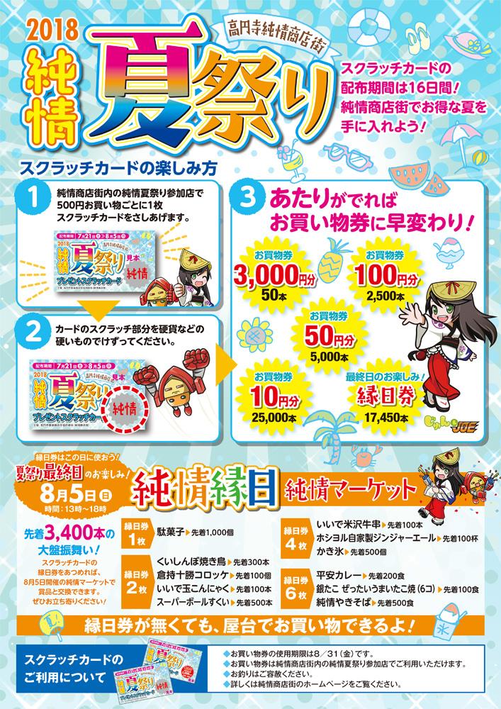 純情夏祭り、買い物券は今月中に!(^o^)/